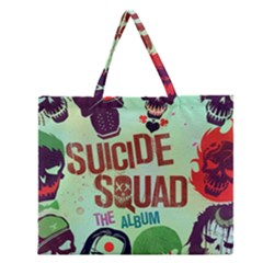 Panic! At The Disco Suicide Squad The Album Zipper Large Tote Bag by Onesevenart