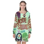 Panic! At The Disco Suicide Squad The Album Long Sleeve Chiffon Shift Dress