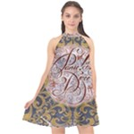 Panic! At The Disco Halter Neckline Chiffon Dress