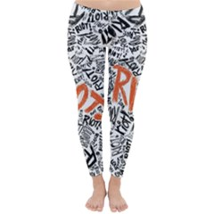 Paramore Is An American Rock Band Classic Winter Leggings by Onesevenart