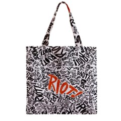 Paramore Is An American Rock Band Zipper Grocery Tote Bag by Onesevenart