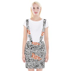 Paramore Is An American Rock Band Braces Suspender Skirt by Onesevenart