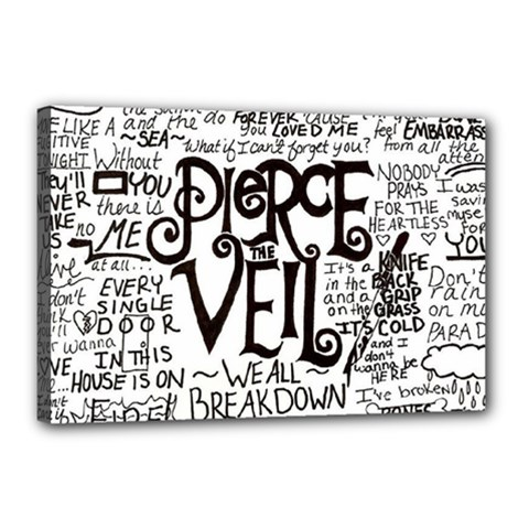 Pierce The Veil Music Band Group Fabric Art Cloth Poster Canvas 18  X 12  by Onesevenart