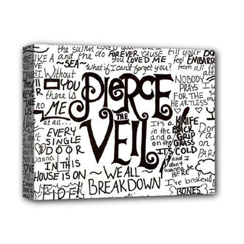 Pierce The Veil Music Band Group Fabric Art Cloth Poster Deluxe Canvas 14  X 11  by Onesevenart
