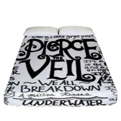 Pierce The Veil Music Band Group Fabric Art Cloth Poster Fitted Sheet (king Size) by Onesevenart