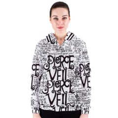 Pierce The Veil Music Band Group Fabric Art Cloth Poster Women s Zipper Hoodie by Onesevenart
