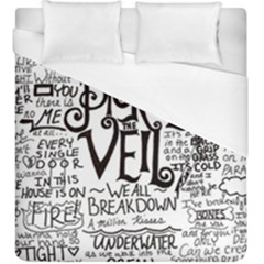 Pierce The Veil Music Band Group Fabric Art Cloth Poster Duvet Cover (king Size) by Onesevenart