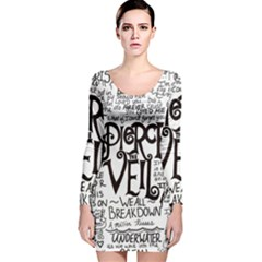 Pierce The Veil Music Band Group Fabric Art Cloth Poster Long Sleeve Velvet Bodycon Dress by Onesevenart