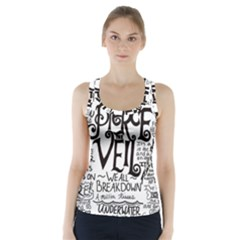 Pierce The Veil Music Band Group Fabric Art Cloth Poster Racer Back Sports Top by Onesevenart