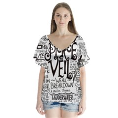 Pierce The Veil Music Band Group Fabric Art Cloth Poster Flutter Sleeve Top by Onesevenart