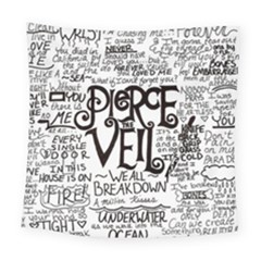 Pierce The Veil Music Band Group Fabric Art Cloth Poster Square Tapestry (large) by Onesevenart