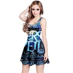 Pierce The Veil Quote Galaxy Nebula Reversible Sleeveless Dress by Onesevenart