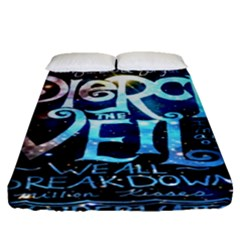 Pierce The Veil Quote Galaxy Nebula Fitted Sheet (queen Size) by Onesevenart