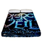 Pierce The Veil Quote Galaxy Nebula Fitted Sheet (Queen Size)