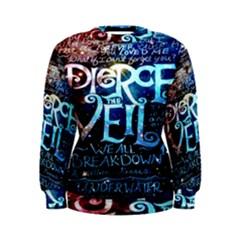 Pierce The Veil Quote Galaxy Nebula Women s Sweatshirt by Onesevenart