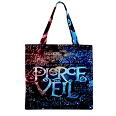 Pierce The Veil Quote Galaxy Nebula Zipper Grocery Tote Bag by Onesevenart
