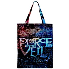 Pierce The Veil Quote Galaxy Nebula Zipper Classic Tote Bag by Onesevenart