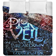 Pierce The Veil Quote Galaxy Nebula Duvet Cover Double Side (king Size) by Onesevenart