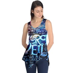 Pierce The Veil Quote Galaxy Nebula Sleeveless Tunic by Onesevenart