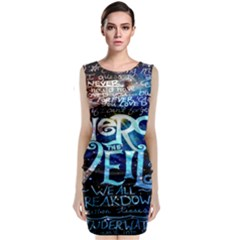 Pierce The Veil Quote Galaxy Nebula Classic Sleeveless Midi Dress by Onesevenart