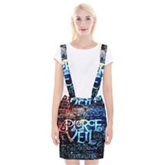 Pierce The Veil Quote Galaxy Nebula Braces Suspender Skirt by Onesevenart