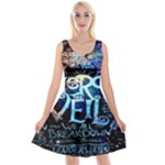 Pierce The Veil Quote Galaxy Nebula Reversible Velvet Sleeveless Dress