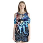 Pierce The Veil Quote Galaxy Nebula Shoulder Cutout Velvet  One Piece