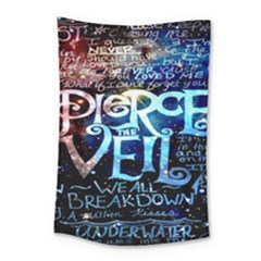 Pierce The Veil Quote Galaxy Nebula Small Tapestry by Onesevenart