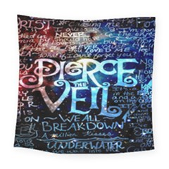 Pierce The Veil Quote Galaxy Nebula Square Tapestry (large) by Onesevenart