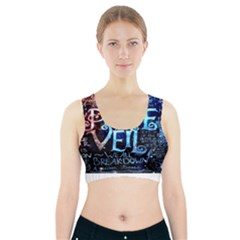 Pierce The Veil Quote Galaxy Nebula Sports Bra With Pocket by Onesevenart
