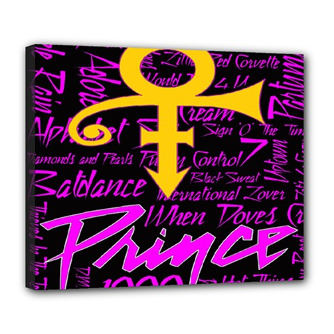Prince Poster Deluxe Canvas 24  X 20   by Onesevenart