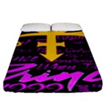 Prince Poster Fitted Sheet (King Size)