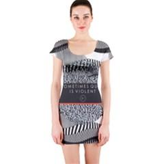 Sometimes Quiet Is Violent Twenty One Pilots The Meaning Of Blurryface Album Short Sleeve Bodycon Dress by Onesevenart