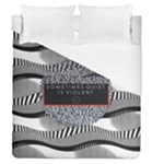 Sometimes Quiet Is Violent Twenty One Pilots The Meaning Of Blurryface Album Duvet Cover (Queen Size)