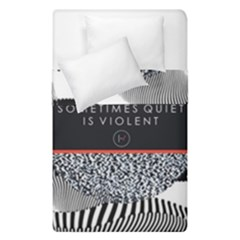 Sometimes Quiet Is Violent Twenty One Pilots The Meaning Of Blurryface Album Duvet Cover Double Side (single Size) by Onesevenart