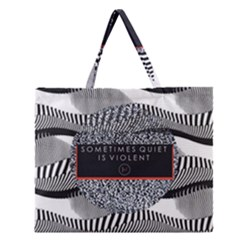 Sometimes Quiet Is Violent Twenty One Pilots The Meaning Of Blurryface Album Zipper Large Tote Bag by Onesevenart