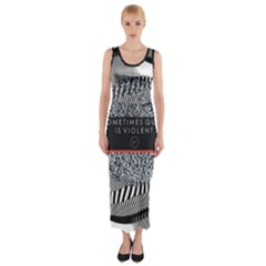 Sometimes Quiet Is Violent Twenty One Pilots The Meaning Of Blurryface Album Fitted Maxi Dress by Onesevenart