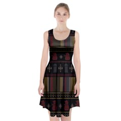 Tardis Doctor Who Ugly Holiday Racerback Midi Dress by Onesevenart