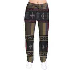 Tardis Doctor Who Ugly Holiday Drawstring Pants by Onesevenart