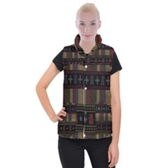 Tardis Doctor Who Ugly Holiday Women s Button Up Puffer Vest by Onesevenart