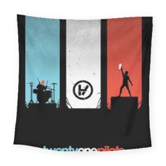 Twenty One 21 Pilots Square Tapestry (large) by Onesevenart