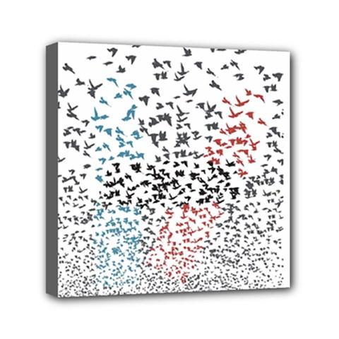 Twenty One Pilots Birds Mini Canvas 6  X 6  by Onesevenart