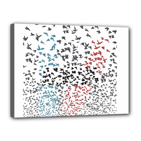 Twenty One Pilots Birds Canvas 16  X 12  by Onesevenart