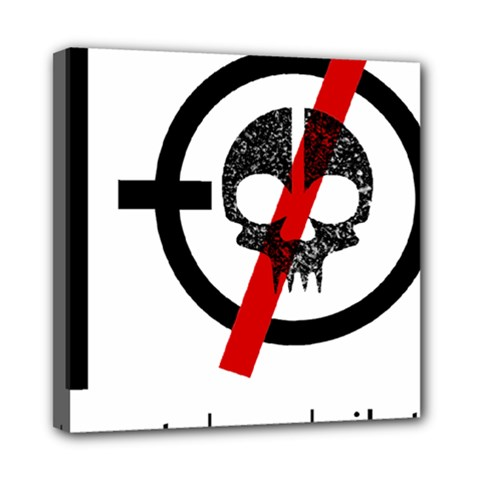 Twenty One Pilots Skull Mini Canvas 8  X 8  by Onesevenart