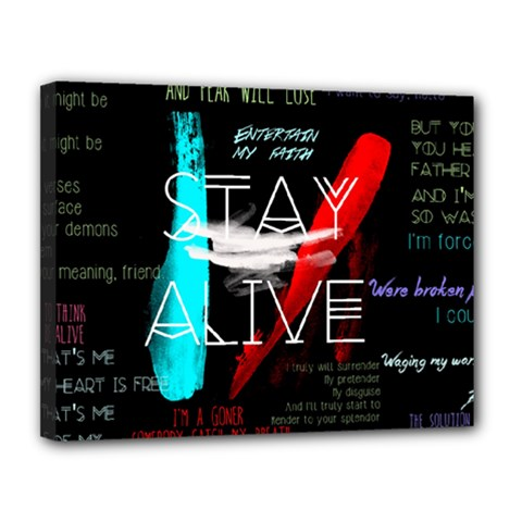 Twenty One Pilots Stay Alive Song Lyrics Quotes Canvas 14  X 11  by Onesevenart