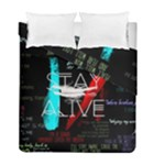Twenty One Pilots Stay Alive Song Lyrics Quotes Duvet Cover Double Side (Full/ Double Size)