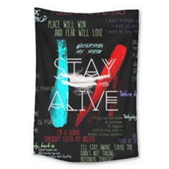 Twenty One Pilots Stay Alive Song Lyrics Quotes Large Tapestry by Onesevenart