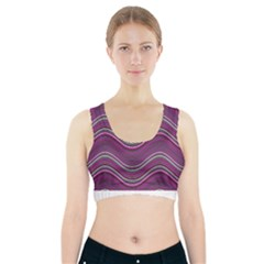 Abstraction Sports Bra With Pocket