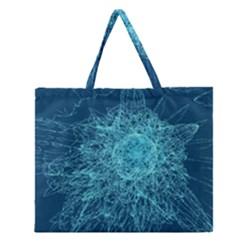 Shattered Glass Zipper Large Tote Bag
