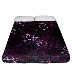 Abstraction Fitted Sheet (california King Size) by Valentinaart